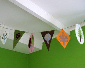 filcowe proporczyki dekoracja pokoju
