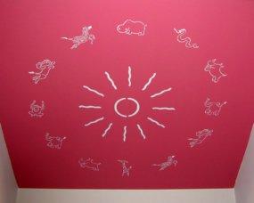 zwierzątka dekoracja sufitu pokój różowy