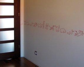 zwierzątka dekoracja ścienna pokój różowy