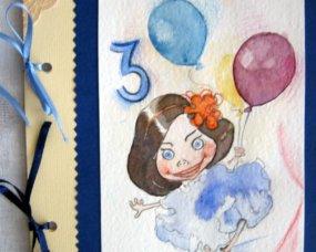kartka urodzinowa z karykaturą