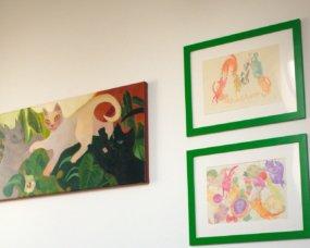 obrazki z kotami - pokój dziewczęcy