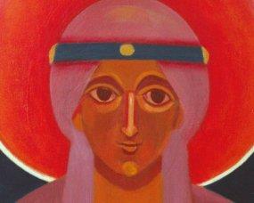 św. Alina ikona na chrzest